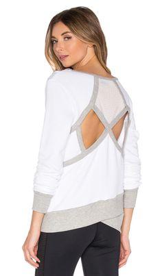 Splits59 Dylan Sweatshirt in White & Heather Light Grey | REVOLVE
