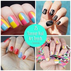 Show off those fingers and toes with the cutest summer nail art trends with tutorials to show you how to achieve the cutest looks.