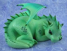 Jade Baby Dragon Figurine Jasmine Becket Griffith