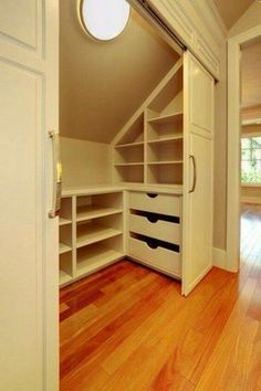 Impressive Attic bathroom decorating ideas,Attic renovation contractors and Attic storage killeen. Attic Bedroom Storage, Attic Bedrooms, Attic Closet, Closet Bedroom, Attic Office, Hallway Closet, Closet Storage, Master Closet, Master Bedrooms