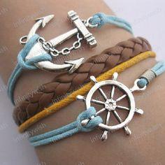 Nautical style bracelets - etsy $8.50