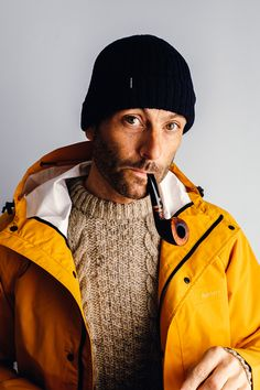 The Litus Waterproof Jacket by Finisterre. Available at The Revive Club. The Salty Sea Dog Look