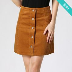 Vintage corduroy high waist mini skirt -                             Vintage…