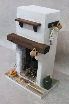 DollHouse Miniature Fire Tudor / Medieval by FirecraftMiniatures Barbie Furniture, Miniature Furniture, Dollhouse Furniture, Diy Dollhouse, Dollhouse Miniatures, Dollhouse Tutorials, Fairy House Crafts, Tudor, Crafts