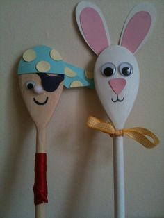 Boxes and Bags of Fun Wooden Spoon Characters made using bits and bobs from our craft box. We will be making these at our first mini craft session for the launch of our children's club.