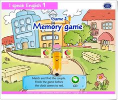 """I speak English (Memory game) English Play, English Games, English Resources, Bingo, Memory Games, 5 Year Olds, 5 Years, Preschool, Clip Art"