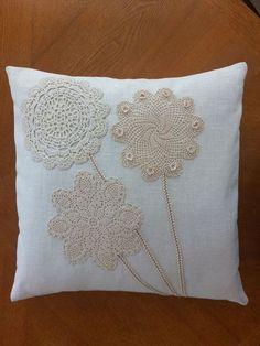 Crochet Cushions, Sewing Pillows, Crochet Pillow, Diy Pillows, Linen Pillows, Throw Pillows, Boho Pillows, Shabby Chic Pillows, Pillow Fabric