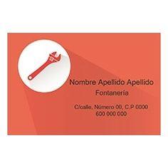 Tarjetas de Visita Una Cara Horizontal Manitas Roja Business Cards, Faces