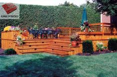 Amazing Inside Corner Cascade Stairs Work For This Deck | Outdoor | Pinterest | Corner  Deck, Deck Stairs And Decking