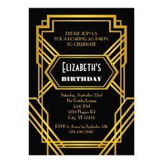 Roaring 20's Birthday Invitation