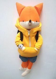 OLLE el zorro. hecho por encargo. juguete ecológico. por LESNE