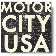 Detroit by Design. Celebrate your love of all things Detroit with the Motor City USA Wall Art from Go Jump in the Lake. Featuring bold white lettering on a weat...