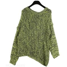 Knit - Mother earth ($96) ❤ liked on Polyvore featuring tops, sweaters, jumpers, shirts, women, knit shirt, green sweater, green shirt, green top and shirt sweater