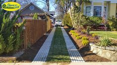 """""""After"""" > Drivable Grass installed by Hancock Outdoorscapes. A green driveway!"""