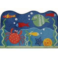 Fun Rugs Supreme Underworld Ocean Rug - 3'3'' x 4'10'', Multicolor