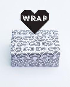 Printable valentines wrap // by minieco