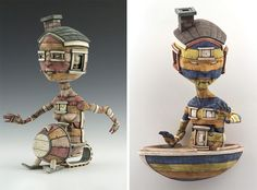 Calvin Ma's Meticulously Crafted Ceramic Sculptures Inspired by Pop Culture Toys, http://inspiredvox.com/calvin-ma-homebodies/
