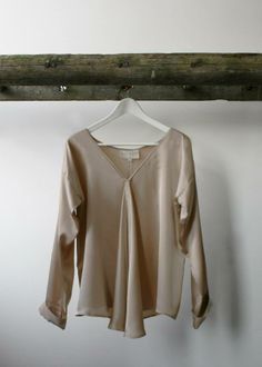Stella+Alf, made in Britain, british, womenswear, fashion, natural, sustainable, nude, sandwashed, silk, blouse,