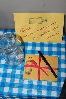 littlebirddee - messages from the guests in a bottle as a keepsake for baby's first birthday