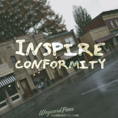 In a town like Wayward Pines, community is everything. Enjoy Your Life, Me Tv, Twin Peaks, Timeline Photos, Favorite Tv Shows, Everything, Pine, Tv Series, Video Games