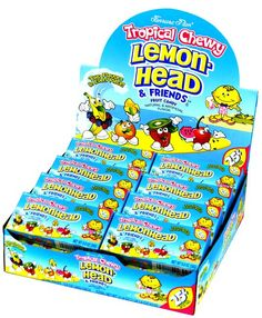 Tropical Lemonheads & Friends Candy - 24CT Case $5.99