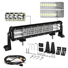LED Light Bar, Autofeel 12 inch 210W Quad Row Driving Lights Spot Flood Combo Beam Light Bar Off Road Lights with Mounting Brackets and Wiring Harness for Truck #Light #Bar, #Autofeel #inch #Quad #Driving #Lights #Spot #Flood #Combo #Beam #Road #with #Mounting #Brackets #Wiring #Harness #Truck