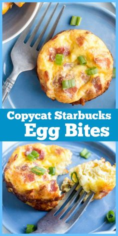 Copycat Starbucks Egg Bites - Recipe Girl®You can find Egg bites and more on our website. Real Food Recipes, Diet Recipes, Cooking Recipes, Healthy Recipes, Recipes With One Egg, Steak And Eggs Diet, Starbucks Egg Bites, Starbucks Egg Salad Recipe, Egg And Grapefruit Diet