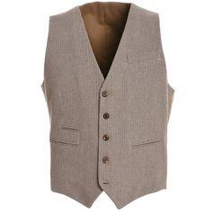 Eleventy Eleventy Men's Beige Wool Vest | Bluefly.Com (2.325 NOK) ❤ liked on Polyvore featuring men's fashion, men's clothing, men's outerwear, men's vests, brown, mens brown vest, mens brown wool vest, mens vest and mens wool vest
