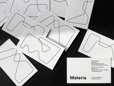 A new identity for Materia, an artist-run centre contributing to the dissemination of fine crafts while promoting artistic research and creativity.