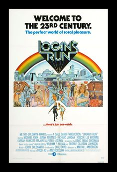 """Logan's Run Soundtrack (LP Cover) Picture from Soundtracks. LP cover for the soundtrack to """"Logan's Run"""" composed by Jerry Goldsmith. """"Logan's Run"""" is a 1976 American science fiction film directed by Michael Anderson. Film Science Fiction, Fiction Movies, Cult Movies, Logan's Run Movie, Movie Tv, Movie Props, Logan's Run Remake, Richard Jordan, Best Sci Fi Movie"""