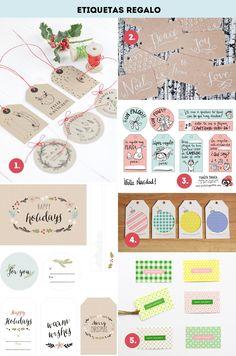 Etiquetas, papel de regalos y cajas imprimibles (y gratis que esta la cosita mala) para que este año nadie se encuentre un regalo feucho en sus zapatos. El contenido ya es cosa vuestra ;)
