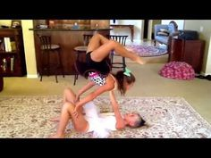 FUN!!!!!!!!!!! Two person acro stunts with CHRISTA and BELLA!!!!!!!!!!!!!!!!!!!!! - YouTube