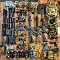 . Breaking out all the kit for this weekends interagency live fire, live explosive training. It's going to be one memorable event with @weaponized_medicine and @tacticalenergeticentrysystems . OpSwiftMend. Bringing together tactical medicine, breaching, assault, EOD and CSAR elements.  #loadoutgrid #gearwhore #medic #SwiftMend #merica