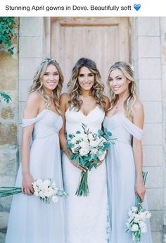 Bridesmaid gowns from 'bridesmaids only' boutique