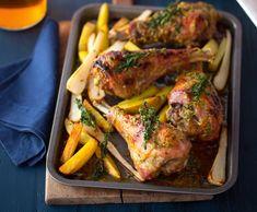 Pomalu pečená krůtí stehna na bramborách Tandoori Chicken, Pork, Turkey, Meat, Ethnic Recipes, Kale Stir Fry, Turkey Country, Pork Chops