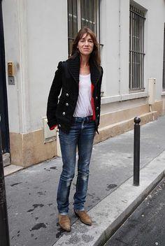 Charlotte Gainsbourg style icon #minimalist #fashion