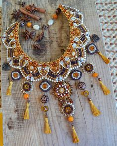 Bead Embroidery Jewelry, Beaded Embroidery, Beaded Jewelry, Jewellery, Handmade Beads, Handcrafted Jewelry, Tribal Fusion, Beads And Wire, Bead Art