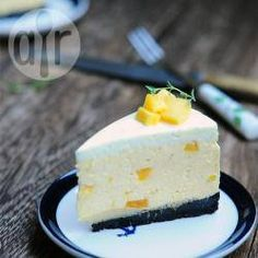 Mango & Lime Mousse Cheesecake (non-bake)