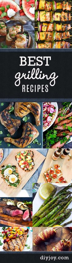 Best Grilling Recipes - DIY Grill Ideas for Backyard Barbecue and Summer Parties Outdoors. Grilled Meats, Vegetables and Side Dishes
