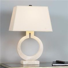 *Keyhole Ring Table Lamp in Alabaster | Shades of Light