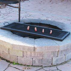 Sunnydaze X Marks Heavy-duty Steel Rectangle Fire Pit Cooking Grill - 36-inch - Walmart.com - Walmart.com Fire Pit Grate, Wood Fire Pit, Diy Fire Pit, Fire Pit Backyard, Fire Pits, Fire Pit Bench, Fire Pit Cooking Grill, Campfire Grill, Cooking On The Grill