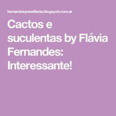 Cactos e suculentas by  Flávia Fernandes: Interessante!