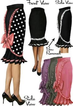 Rockabilly Pinup Ruffle Skirt by Amber Middaugh/ Raiven H/ and Patricia Sipes