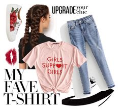 """""""My fave T-shirt"""" by kristinas-l ❤ liked on Polyvore featuring LullaBellz and MyFaveTshirt"""