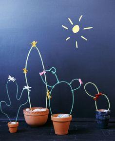 DIY Wire Cacti Garden Ideas (via Bloglovin.com )