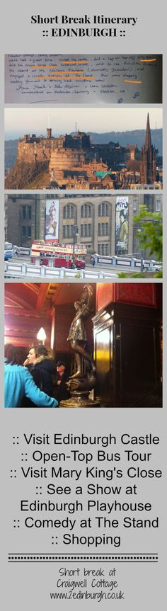 Visit Edinburgh, Edinburgh Castle, Stand Comedy, Playhouse Theatre, Short Break, Play Houses, March, Cottage, Tours