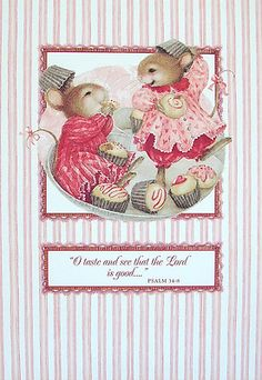 Susan Wheeler Holly Pond Hill Mouse Mice Candy Sweet Friendship Greeting Card