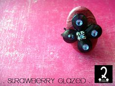 Truffle rings collection  Strawberry by DosPuntosAccessories, $32.00