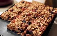 Make your own granola bars with oats, dried fruit, brown sugar. some coconut oil would be super healthy, too. Healthy Breakfast Alternatives article- BUT soy is not that good for you and COFFEE IS! Easy Granola Recipe, Healthy Oatmeal Recipes, Healthy Granola Bars, Healthy Breads, Eating Healthy, Clean Eating, Homemade Oatmeal, Homemade Granola Bars, Homemade Cereal