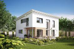 Fertighaus Architektenhaus Trento, individuell geplantes Pultdachhaus mit…